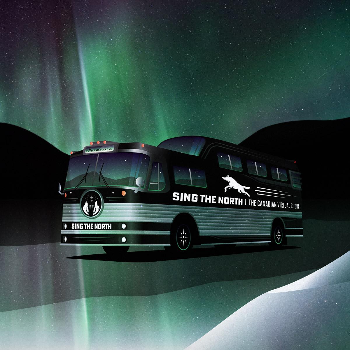sing the north bus landscape arctic sq